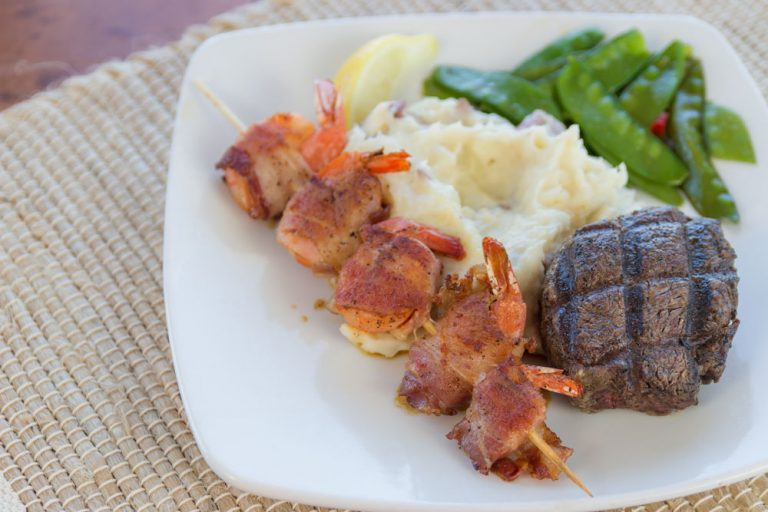 Bluewater Waterfront Grill, Shrimp and Steak