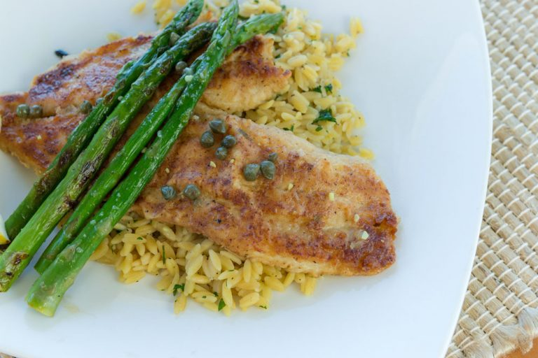 Bluewater Waterfront Grill, Flounder Piccata