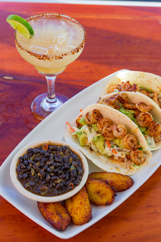 Bluewater Waterfront Grill, Shrimp Tacos