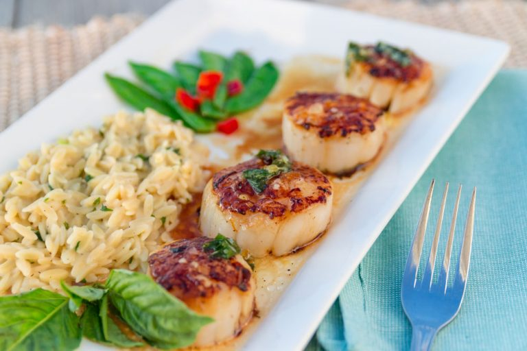 Bluewater Waterfront Grill, Seared Scallops