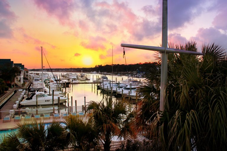 Bluewater Waterfront Grill at Sunset