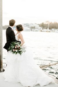 Bluewater Waterfront Grill Wedding, Wrightsville Beach. Photo Credit: Kate Supa Photography